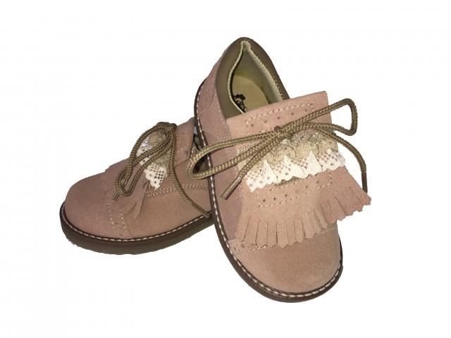 Sapato Carneira criança com renda